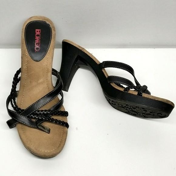 2a37122cff25c BONGO Shoes - Platform Strappy Sandal Slide w Braid Detail